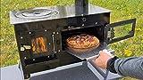 ECOfoxx Outdoor-Küchenofen Garten-Kamin Gartenküche Rosalie Pizzaofen Zeltofen