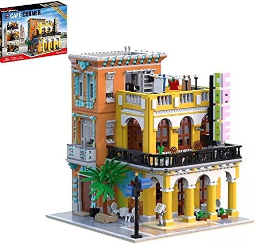 KEAYO Bloques de construcción para casa, 3158 piezas, tienda de café modular, kit de construcción de maquetas, arquitectura, bloques de sujeción, edificios, modelo compatible con casa Lego