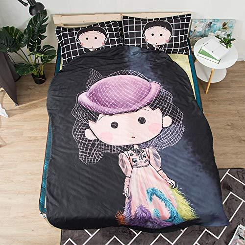 Hllhpc cartoon meisje zomer cool quilt voor kinderen studenten