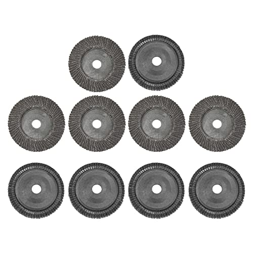 Utoolmart 100 mm diámetro exterior abrasivo muela 60 grano de carburo de silicio cambio rápido aleta disco de lijado con vástago para metal madera pulido 10pcs