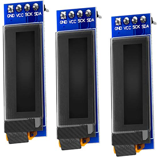 AZDelivery I2C 0.91-inch OLED Display SSD1306 128x32 Pixels IIC 3.3V 5V White Character Display Compatible with Arduino and Raspberry Pi Including E-Book! (Pack of 3)