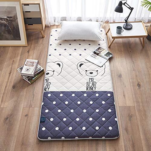 EVENEW Factory - Colchón para dormitorio de estudiantes, antideslizante, plegable, de 91 cm, F, 90*200cm