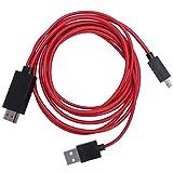 6,5 pieds - Câble de conversion USB vers HDMI 1080P HDTV pour appareils Android Galaxy S3 S4 S5...