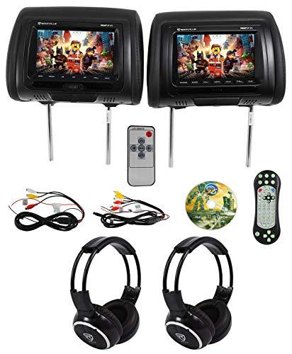 black dvd headrest for car - 2
