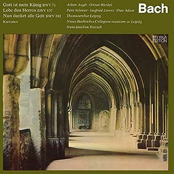 Bach: Gott ist mein König / Lobe den Herren / Nun danket alle Gott