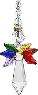 Qf Rainbow Guardian Angel Crystal Suncatcher For Home/Car Decoration & Porch Decor & Hangings Crystal Glass Ornament (Rainbow)