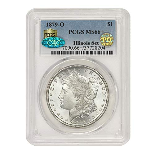 1879 O American Silver Morgan Dollar MS-66+ PQ Approved Illinois Set by CoinFolio $1 MS66+ PCGS/CAC