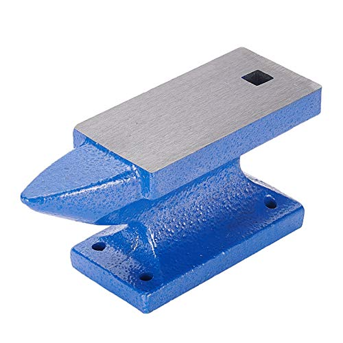 PandaHall 3.8 Lb Iron Single Horn Base Horn Anvil Bench Block Small Jeweler Blacksmith Tool for Jewelry Making, Black