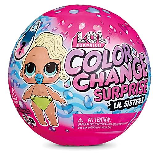 Boneca LOL Surprise Color Change Lil Sisters, Candide, Surpresa