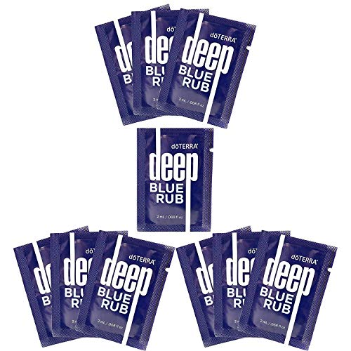 doTERRA Deep Blue Rub Sample Packets of 2-ml Each, Total of 10-Packets