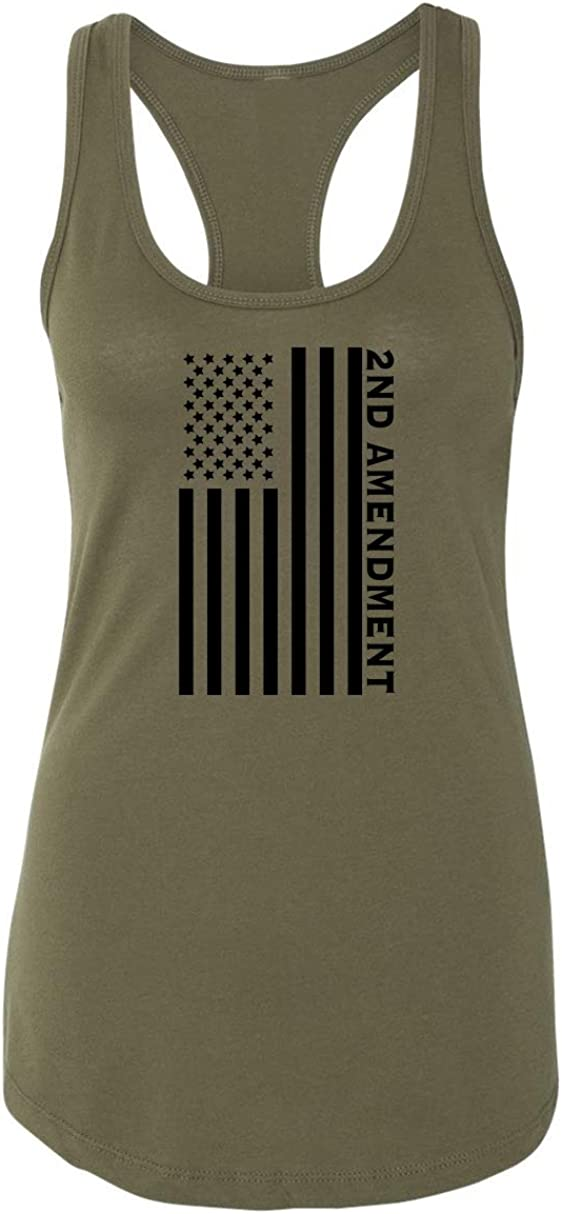 Comical Shirt Ladies Second Amendment Charlotte Mall American Graphic Tee Safety and trust Flag
