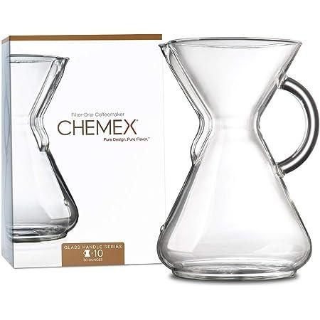 Chemex Cafetera de vidrio, Con manija, Transparente, 10 tazas, 1