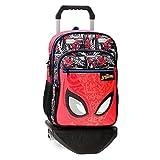 Marvel Spiderman Comic Mochila Escolar Doble Compartimento con Carro Rojo 30x40x13 cms Poliéster...