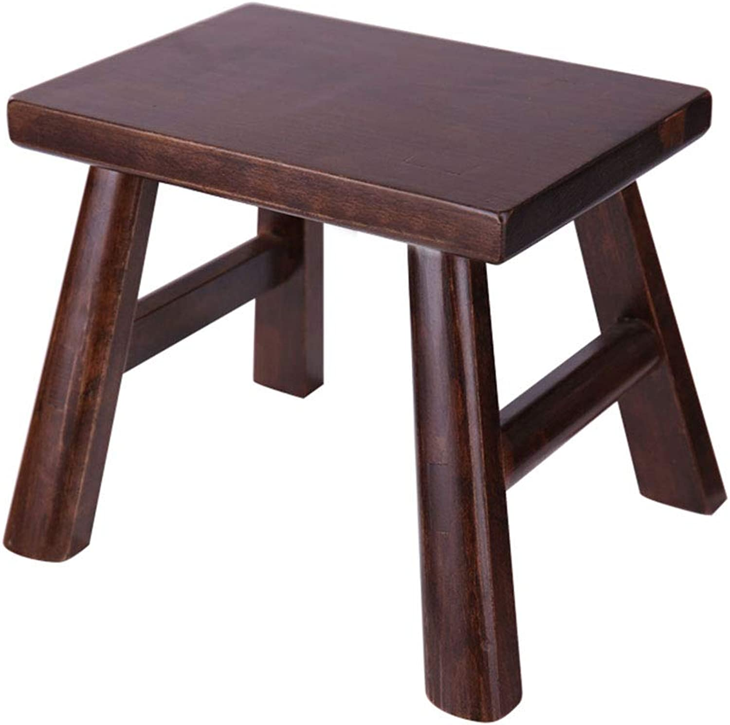 Stool Footstool shoes Bench Sofa Stool Change shoes Bench Wooden Stool Square Stool Solid Wood Living Room Sofa Modern Home Simple Stool ZHANGQIANG (color   Elm Brown, Size   Small)