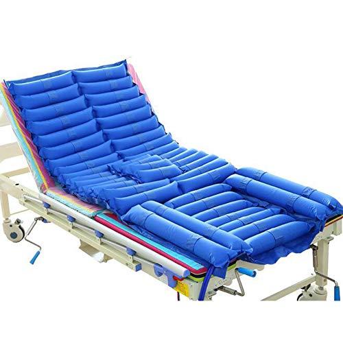 Mattress-systeem met matras en drukpomp, vervanging voor ziekenhuizen met weinig luchtverlies voor drukzweren.