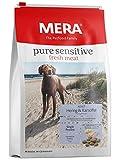 mera pure sensitive fresh meat adult hering and patel cibo secco per cani con una ricetta senza cereali e 25% di carne fresca