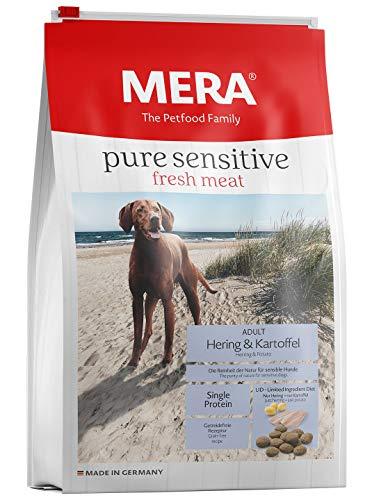 MERA pure sensitive fresh meat Adult Hering und Kartoffel Hundefutter – Trockenfutter für Hunde mit einer Rezeptur ohne Getreide und 25{6f0baf2b3dc57ae6a6ee6d722adca4c6d09f84542abb07b03cb84900615be066} Frischfleisch