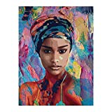 Homeofying Leinwandbild Afrikanische Frau Lady Bild Poster
