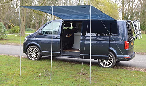 Wild Earth - Toldo para caravana VW de 300 cm x 240 cm, de color gris medio