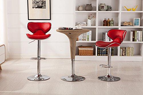 Red Adjustable Bar Stools - 5