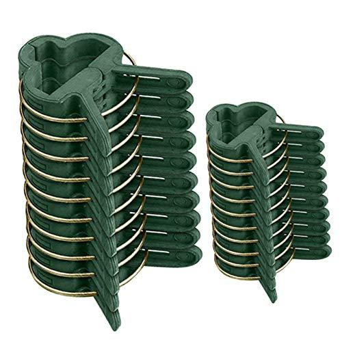 Nuluxi Clips de Plante Réglable Plante Clips de Fixation Support Attache Plante Clips Plastique Clip de Plante de Support de Jardin pour Jardin Vigne Légumes Tomates(20 Grands Clips et 20Petits Clips)