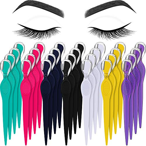 28 Pieces Eyebrow Razor Eyebrow Knife Eyebrows Shaper Trimmer Shaver Facial Hair Razor Tool for Christmas Valentine's Day Giving (Multi-colors)