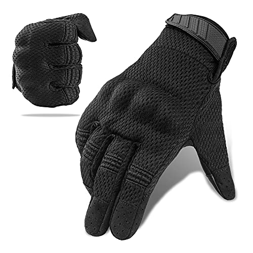 Tactical Glove Hard Knuckle Screen Touch Gloves for Military Shooting Cycling Riding Motorcycle Airsoft Paintball Gear(Black, XL)