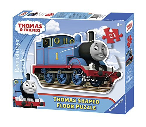 Ravensburger Thomas & Friends: Thomas The Tank Engine 24 Piece Shaped Floor Jigsaw Puzzle for Kids – Every Piece is Unique, Pieces Fit Together Perfectly