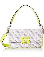 GUESS Womens Handbag, White/Multicolour - SQ758019