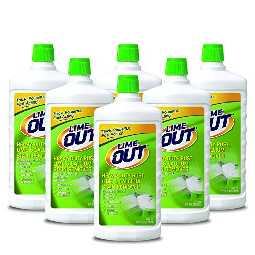Summit Brands Lime Out Heavy-Duty Rust, Lime, Calcium, Rust Stain Remover, 24 Ounce, Pack of 6