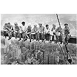 sjkkad Empire State Building Bauarbeiter Kunst Leinwand
