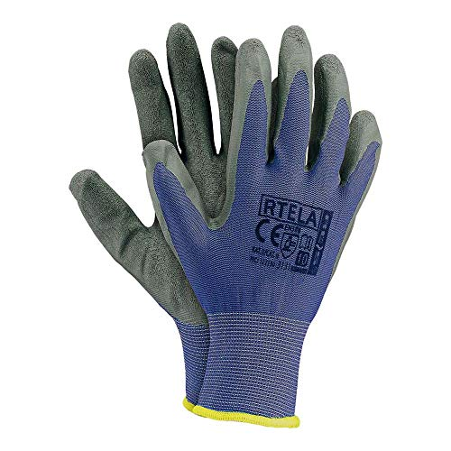 Reis RTELA_NS7 Schutzhandschuhe, Blau-Grau, 7 Größe, 12 Stück