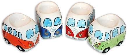 Camper Bus Eierbecher Set - aus Keramik, bunt sortiert, im 4-er Set, in 4 versch. Farben. preisvergleich bei geschirr-verleih.eu