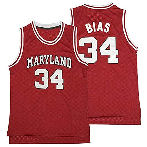 Len Bias 34 Custom Men's Movie Baksetball Jersey Red