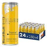 Red Bull Energy Drink Tropical 24 x 250 ml OHNE Pfand Dosen Getränke, Yellow Edition 24er Palette