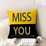 DuangDuang Hugging funda de almohada hogar sofá cojín almohada lino piel melocotón almohada hogar artículos