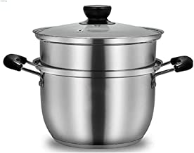 DIAOD Stainless Steel Steamers,2-Tier Stainless Steel Induction Steamer Set,Steamer Pan,Stock Pot,Polished Mirror Finish