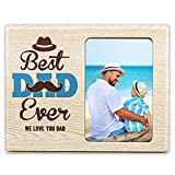 Hohomark Fathers Day Picture Frame 4x6 Best Dad Ever Photo Frame for Dad from Daughter Son Father's Day Gifts for Husband from Wife