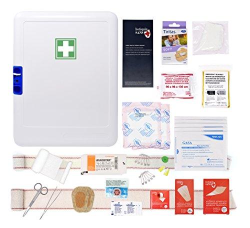 Armario de primeros auxilios, para empresas, para 10personas ( conforme al Código del trabajo–Artículo R4224–14 ).