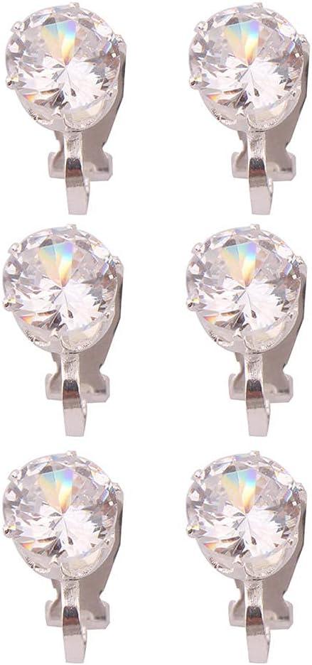 Earring Ear Studs Earring Ear Studs Small Round Cubic Zircon Clip On Earrings Without Pierced for Women Girl Party Wedding Shiny Cuff Earrings
