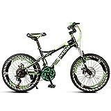 Bicicletta per Bambini Buggy a velocità variabile da 18 Pollici Mountain Bike della Scuola primaria della Ragazza Maschio Bicicletta a Pedali Indoor (Color : B)