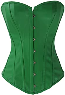 89f034bfe62 stay real Fashion Womens Sexy Steampunk Gothic Faux Leather Boned Corset  Bustier