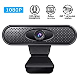 1080P Podofo Hd Webcam with Microphone, Full Hd 30fps Video Calling Web Camera, Pro Video Cam with USB Plug & Play for Skype, Live Class Conference, Facetime, Hangouts, YouTube, Pc/Mac/Laptop/Tablet