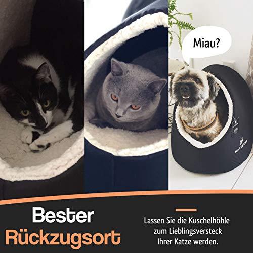 KATZEENA –  Kuschelhöhle | Premium Katzenbett | Waschbare Katzenhöhle | Kuschelhaus für Haustiere - 6