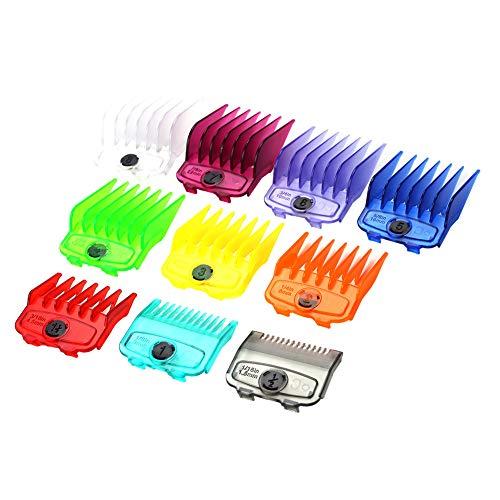2021 Haarschneidekamm mit magnetischer Trimmerführung, 10 Stück