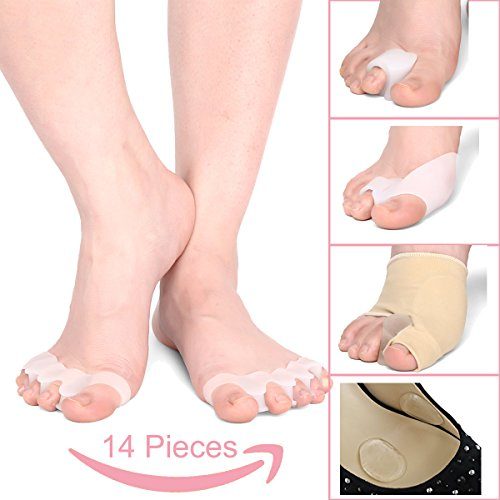 Toe Separators,Bunion Corrector,Toe Stretchers,Bunion Relief Protector & Pads - Toe Spacers & Spreaders Treat Pain in Hallux Valgus, Tailors Bunion, Big Toe Joint, Hammer Toe