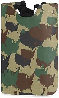 Mnsruu Panier à linge pliable avec poignées Motif camouflage