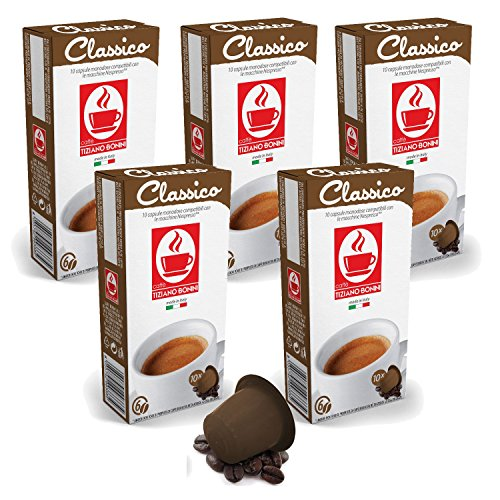 50 Kaffee Kapseln Nespresso kompatibel - Classico (5 x 10 Kapseln à 5.5 g) von Bonini