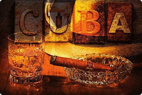 Generisch Blechschild 20x30cm gewölbt Cuba Kuba Havana Rum Zigarren Havanas Deko Schild