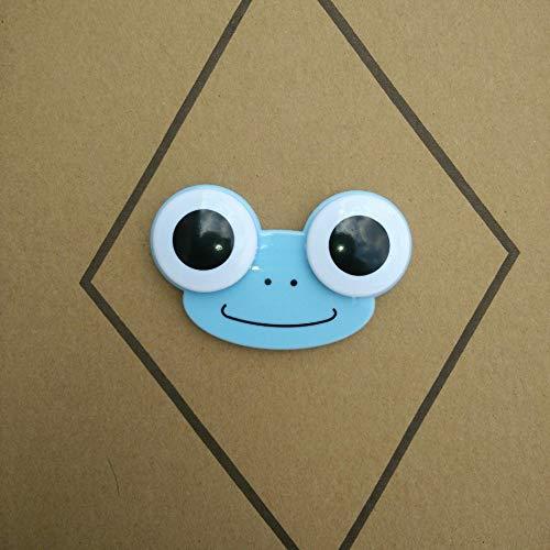 Salamii Frosch Kontaktlinsenbehälter für Kontaktlinsen, Aufbewahrungsbehälter für Outdoor-Reisen, Blau